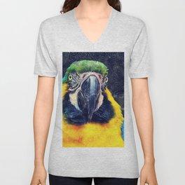 Parrot art #parrot #animals Unisex V-Neck