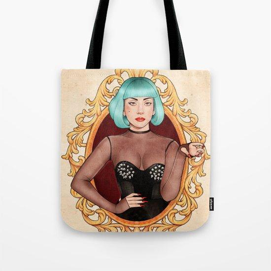 Teal Lady Tote Bag