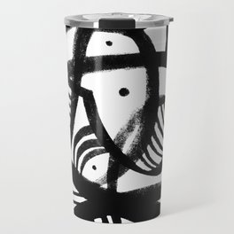 Black and white abstract mid century Travel Mug