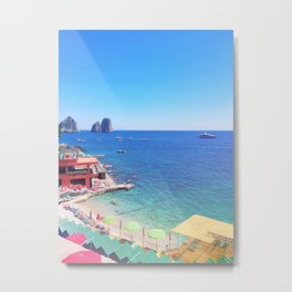 Capri Italy Marina Piccola II Metal Print