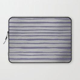 Violet gray silver watercolor brushstrokes stripes Laptop Sleeve