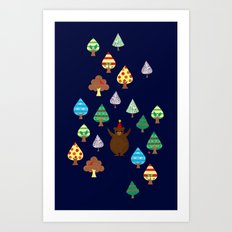 If You Go Down to the Woods Today... Art Print