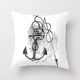 Anchor and harpoon. Throw Pillow