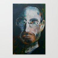 steve jobs Canvas Prints featuring Steve Jobs by Charles Dowdy