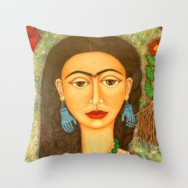 My homage to Frida Throw Pillow