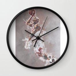 basketball player art Wall Clock