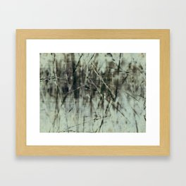 Emerald grass ~ Abstract Framed Art Print