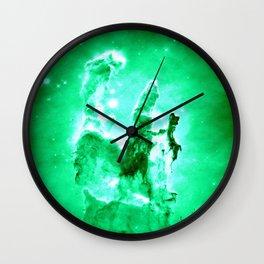 NEbula. : Green Pillars of Creation Wall Clock