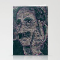 marx Stationery Cards featuring Groucho Marx - Duck Soup Screenplay Print by Robotic Ewe