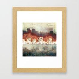 City Rain Framed Art Print