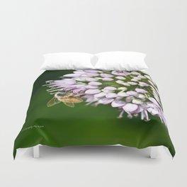 Honey Bee And Lavender Flower Duvet Cover
