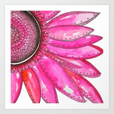 Gerber Daisy Watercolor Print Art Print