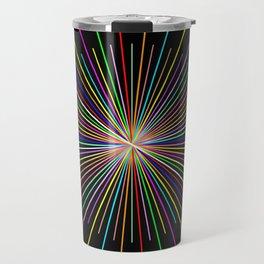Strands Of Light 2 - Abstract, Spectral Pattern Travel Mug