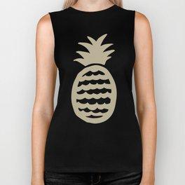Golden pineapple pattern Biker Tank