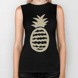 Golden pineapple pattern Biker Tank