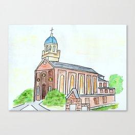 University of Dayton watercolor, UD Chapel, Dayton, OH Canvas Print