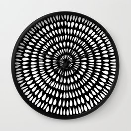 Black Ink Lines 13 Wall Clock