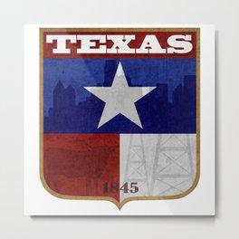 Texas Badge Metal Print