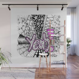 YEAH! Congratulations, Support, Celebration.... Zentangle Illustration Wall Mural