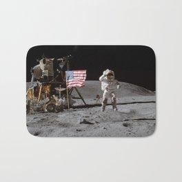 Astronaut and American Flag Apollo Moon Mission Bath Mat