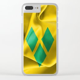 Saint Vincent and the Grenadines Flag Clear iPhone Case