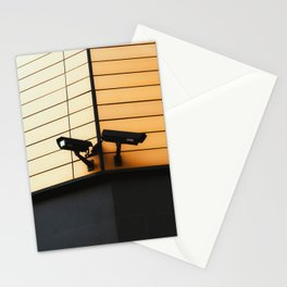 BLACK AND WHITE WALL MOUNTED LAMP Stationery Cards
