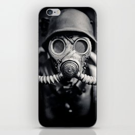 German Solider in a Gas Mask from World War II iPhone Skin