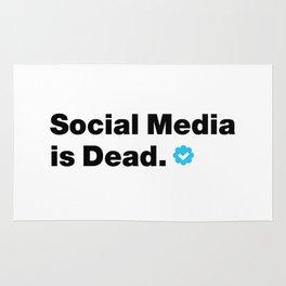 SOCIAL MEDIA IS DEAD Rug