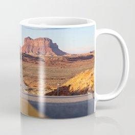 Monument Valley Desert Road Valley Drive Highway Route Arizona-Utah border Photograph Coffee Mug