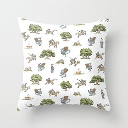 Knights and Dragons Throw Pillow