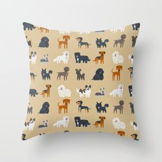 EASTERN EUROPEAN DOGS Throw Pillow