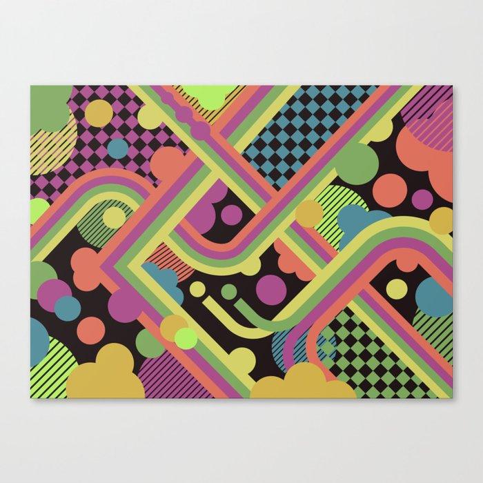 Multi-Color Geometric Fantasy Canvas Print