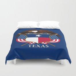 Texas flag and eagle crest concept Duvet Cover