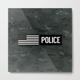 Police: Black Camouflage Metal Print