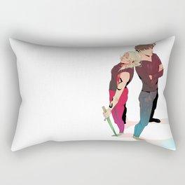 Dynamic Duo Rectangular Pillow