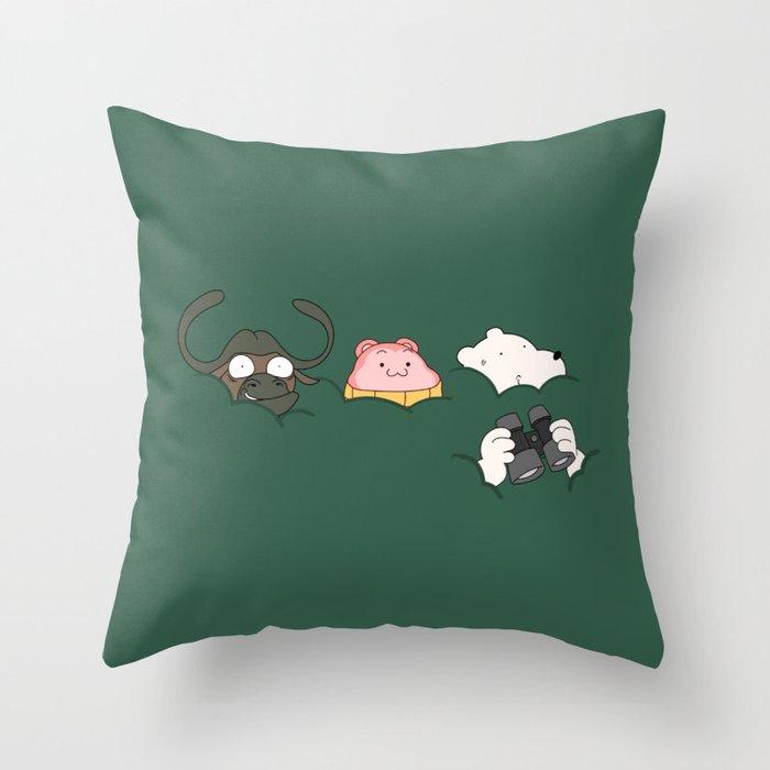 In the bush (Peepoodo) Throw Pillow