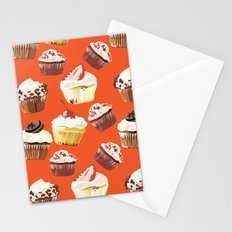 Cup cakes patterns Stationery Cards