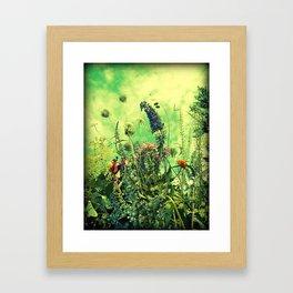 Wildflowers and Sky Framed Art Print