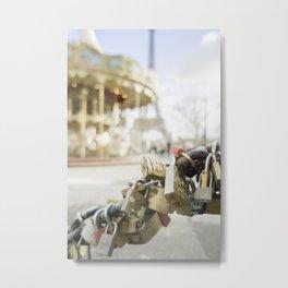 Paris Staples Metal Print