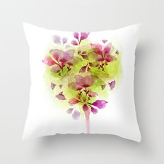 Fleur Tree Throw Pillow