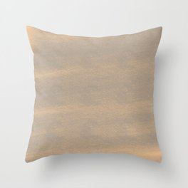 Chalky background - brown Throw Pillow