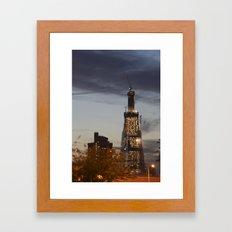 The Shard...the super fast growing skyscraper Framed Art Print