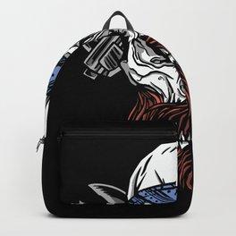 Mechanic Skull Halloweeen Design Backpack