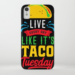 I Love Mexican Food Taco Time is Any Time iPhone Case