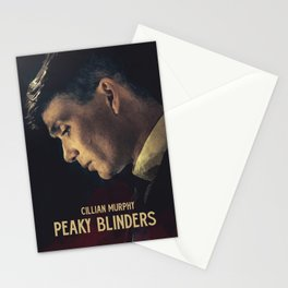 Peaky Blinders, Cillian Murphy, Thomas Shelby, BBC Tv series, gangster family Stationery Cards
