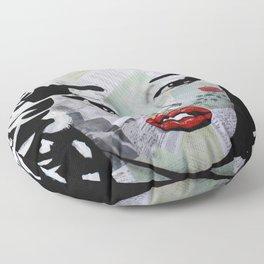 Marilyn «Red Flower» Floor Pillow