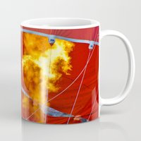 hot air balloons Mugs featuring Hot Air Balloons  by Cornish Seascapes