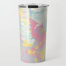 Futuristic Pastel Cityscape Travel Mug