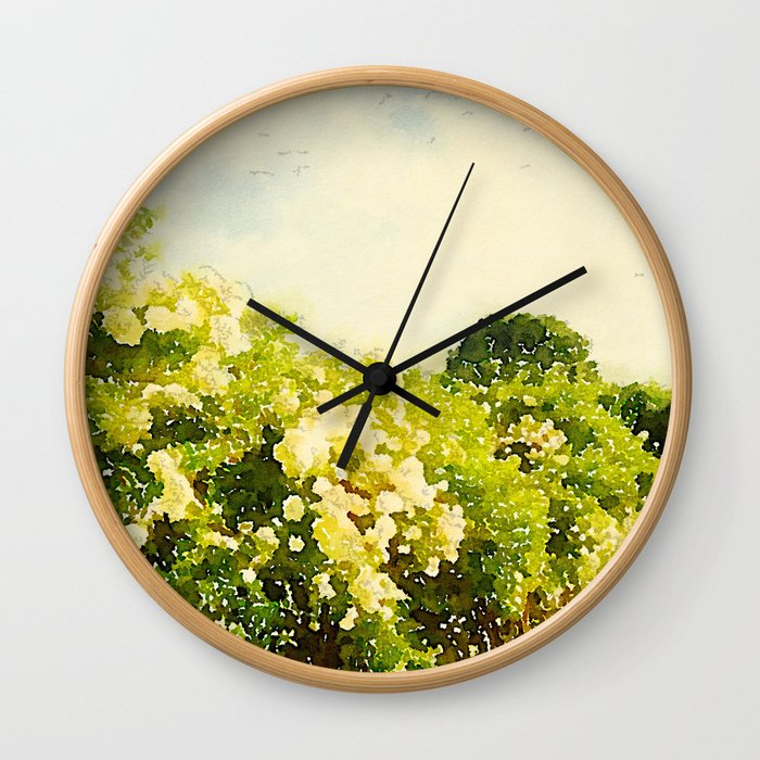 Hydrangea Bushes, Kennebunkport, Maine Wall Clock