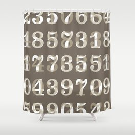 Clarendon Numbers Shower Curtain